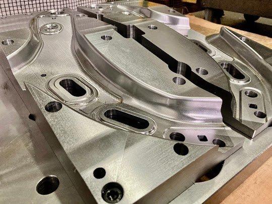 CNC machining of press die